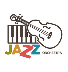 Jazz orchestra musical art poster vector