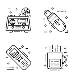 Journalism and social media line icons pack vector