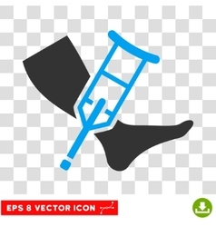 Leg And Crutch Eps Icon vector image