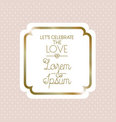 love square frame decoration vector image