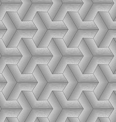 Monochrome gray halftone striped tetrapods vector image