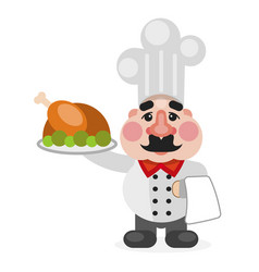 multitasking african american flat chef cook vector image