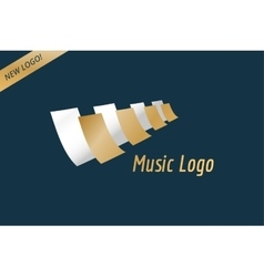 Music piano keys logo icon template Melody vector image