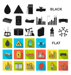 oil industry flat icons in set collection for vector image