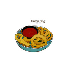 onion rings graphic hand drawn vector image