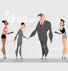 Partners with their secretaries vector
