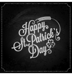 Patrick day vintage chalk background vector image