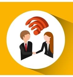 Persons concept business wifi vector