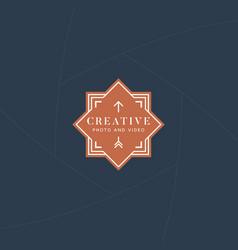 Photo videography logo vector