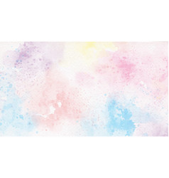 Rainbow pastel unicorn candy watercolor on paper vector