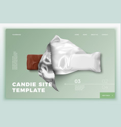 realistic 3d candy bar on site template vector image