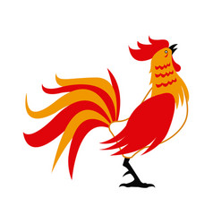 Red rooster for chinese celebration usable for vector