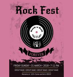 Rock fest announcement vector