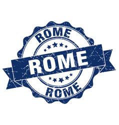 Rome round ribbon seal vector