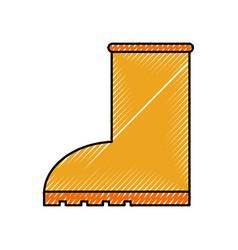 rubber boot rain seasonal icon style on white vector image