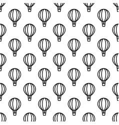 seamless air balloon pattern monochrome vector image