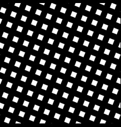 Seamless pattern slanting grid in black and white vector