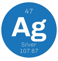 Silver chemical element vector image