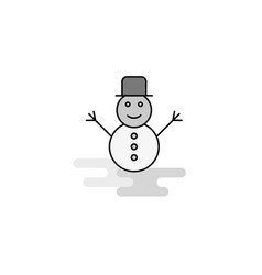 snowman web icon flat line filled gray icon vector image