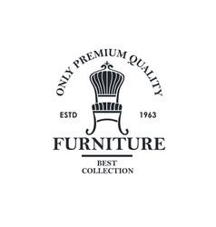 soft furniture label vector image