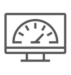Speed optimization line icon traffic and internet vector