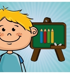 Student cartoon color vector