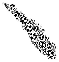 Sumatra island map mosaic of soccer spheres vector