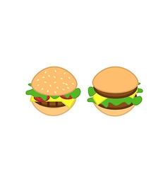 Tasty burgers vector
