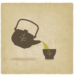tea ceremony old background vector image