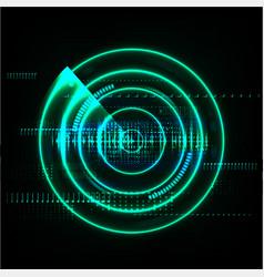 Technological global radar modern abstract vector