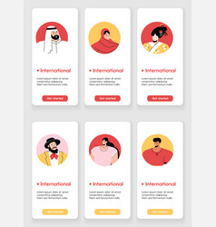 Template design for mobile app page vector