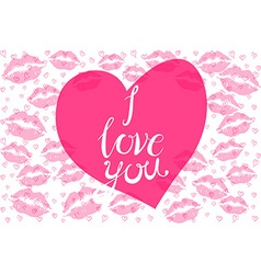 The inscription I love you in the shape of a heart vector image vector image