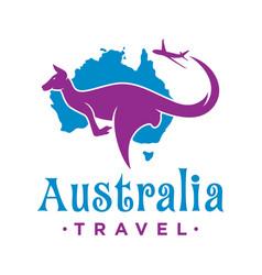 travel logo design to australia vector image