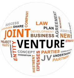 word cloud joint venture vector image
