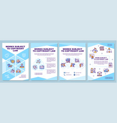 Works subject to copyright law brochure template vector