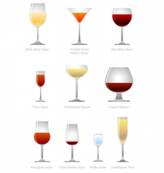 alcoholic drink vector image vector image