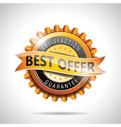Best offer labels with shiny styled design vector image