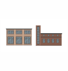 buildings types vector image