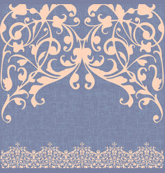 damascus ornament canvas background vector image vector image