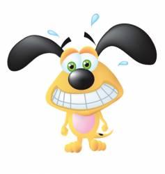 nervous dog vector image vector image