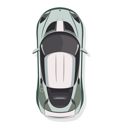 the sport car top view in flat style isolated on vector image