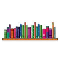 A shelf full of books vector image vector image