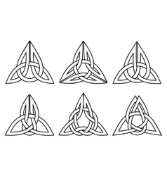 celtic trinity knot set vector image