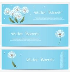 Dandelion banner on blue background vector