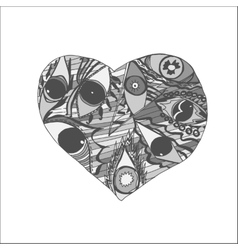 Hand drawn Doodle Heart vector image