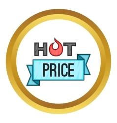 Hot price sticker icon vector image vector image