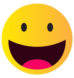 laughing happy smile vector image vector image