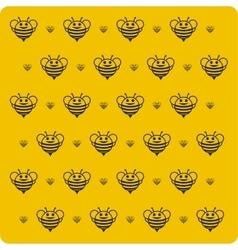 Orange background bee vector image