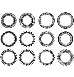 Set nice old fashioned circle vector image vector image