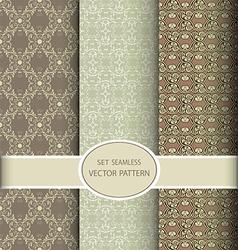 set of seamless vintage patterns vector image